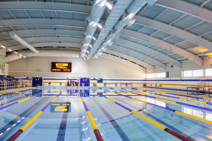 Our services prestige decorating - Loughborough university swimming pool ...
